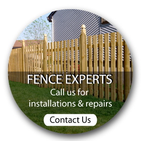 Fence experts. Call us for installations and repairs. Contact us- fence in yard